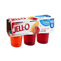 Jell-O 10 Calorie Sugarfree Raspberry & Orange Gelatin Snacks - 6 CT