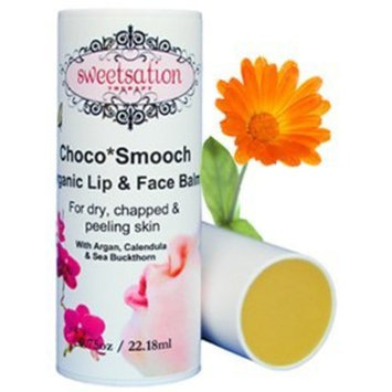 Sweetsation Therapy Choco*Smooch Organic Baby Lip & Face Balm, with Argan, Calendula and Sea Buckthorn, 0.75oz Jumbo