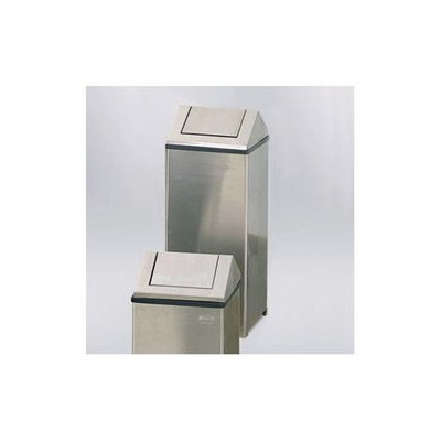 Rubbermaid Fire-Safe Swing Top Receptacle, Square, Nonmagnet Steel