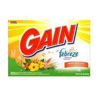 Gain with Febreze Freshness Hawaiian Aloha Powder Detergent 63 Loads, 125.0-Ounce Boxes (Pack of 3)