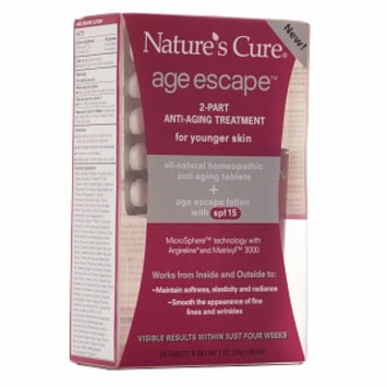 Nature's Cure Age Escape 2-Part Anti-Aging Treatment For Younger Skin