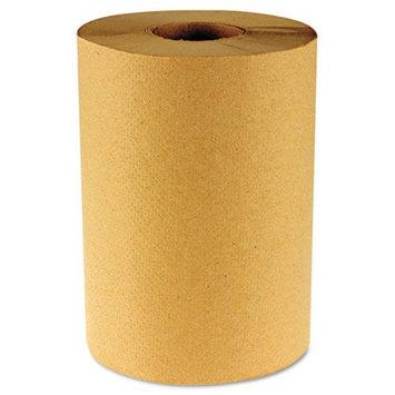 Boardwalk Hardwound Paper Towels, Nonperforated 1-Ply Kraft, 800'