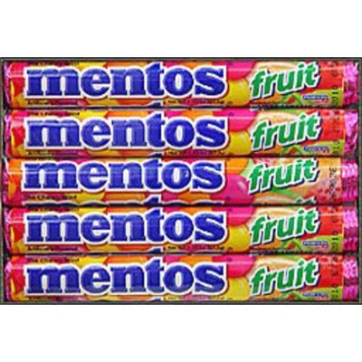 Perfetti Mentos Rolls, Mixed Fruit, 1.32 Ounce (Pack of 15)