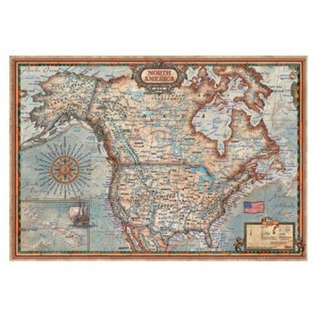 John N. Hansen Co John N. Hansen North American Map 1,000 pc Puzzle