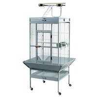 Prevue Hendryx Signature Select Series Wrought Iron Bird Cage in Pewter (Medium; 24