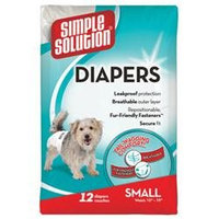 Simple Solution Disposable Diapers for Dogs - Small (12 Count)