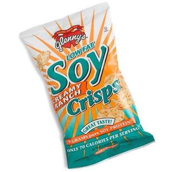 Glenny's Low Fat Soy Crisps, Creamy Ranch, 1.3-Ounce Bags (Pack of 24)