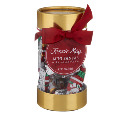 Fannie May Mini Santas Milk Chocolate Candies
