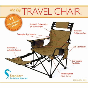 Standers Mr. Big Travel Chair Gold