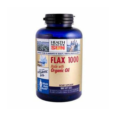 Health From the Sun Organic Flax 1000 Original Formula 180 Softgels