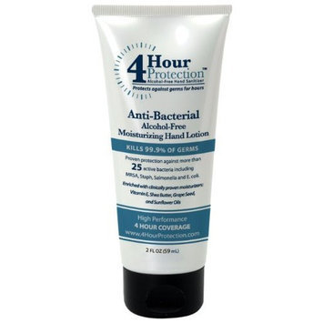4 Hour Protection Moisturizing Hand Sanitizer, Lotion, 2 fl. oz. Tube, 4-Count