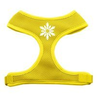 Mirage Pet Products 7023 MDYW Snowflake Design Soft Mesh Harnesses Yellow Medium