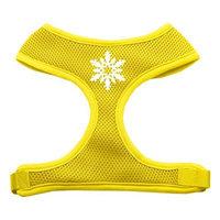 Mirage Pet Products 7023 MDYW Snowflake Design Soft Mesh Harnesses Yellow Medium