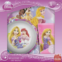 Zak Designs 3 Piece Disney Princess Plate Set