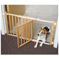 Four Paws Walk Over Wooden Gate with Door