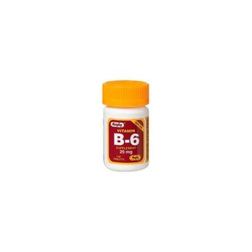 Vitamin B-6 25 mg, 100 Tablets, Watson Rugby