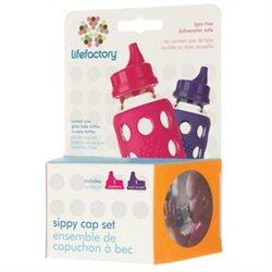 Lifefactory Sippy Caps - Raspberry & Royal Purple