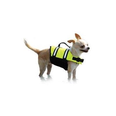 Paws Aboard Neon Yellow Doggy Life Jacket