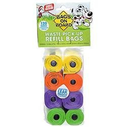 Bags on Board Rainbow Waste Pick-Up Refill Bags