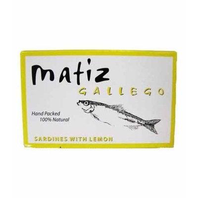 Matiz Sardines with Lemon Packed in Olive Oil (4.2oz/120g tin)