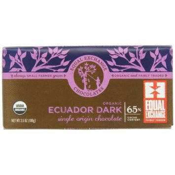 Equal Exchange Organic Ecuador Dark Chocolate, 3.5-Ounce (Pack of 6)