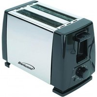 Brentwood 2-Slice Toaster (Stainless Steel and Black)