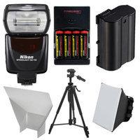 Nikon SB-700 AF Speedlight Flash with EN-EL15 & AA Batteries + Tripod + Softbox + Reflector for D7000, D7100, D610, D800 Digital SLR Camera
