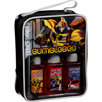 TRANSFORMER-HASBRO Transformers Bumblebee Travel Bath Gift Set, 4 pc