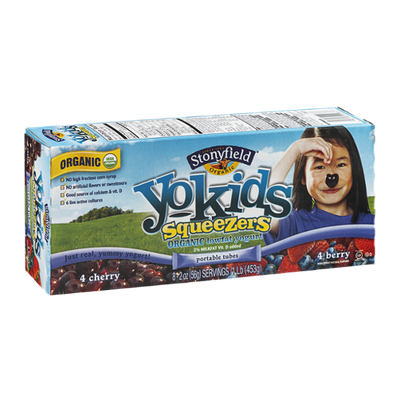 Stonyfield Organic Yo Kids Squeezers Organic Low Fat Yogurt Tubes - 8 CT