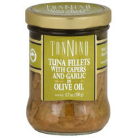 Tonnino Tuna Fillets with Capers and Garlic in Olive Oil, 6.7 oz, (Pack of 6)