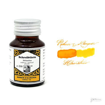 Rohrer & Klingner 50 ml Bottle Fountain Pen Ink, Helianthus (Sunflower)
