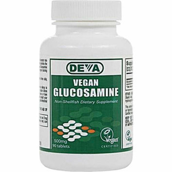 Deva Vegan Vitamins Deva Vegan Glucosamine 500 mg 90 Tablets