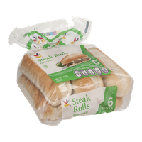 Ahold Steak Rolls Enriched - 6 CT