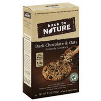 Back to Nature Dark Chocolate & Oats Granola Cookies, 8.5 oz, (Pack of 6)