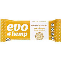 Evo Hemp Pineapple Almond + Raw Protein Raw Organic Nutrition Bar, 1.69 oz, 12 count