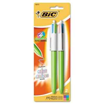 BIC BIC CORPORATION Medium 4-Color Ballpoint Retractable Pen (2/Pack)