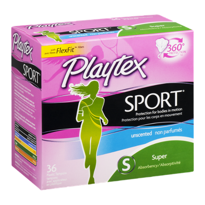 Playtex Plastic Tampons Sport Super Unscented - 36 CT
