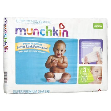 MunchkinDisposableDiapers 4 pack - Size 3 (144 Count