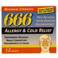 666 Allergy And Cold Relief Tablets By Lee Pharmaceutical - 12 Ea