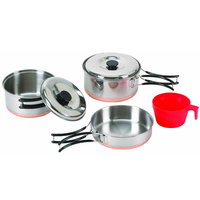 Stansport One Person Stainless Steel Cook Set