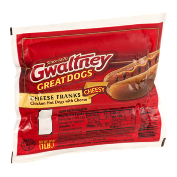 Gwaltney Great Dogs Cheese Franks