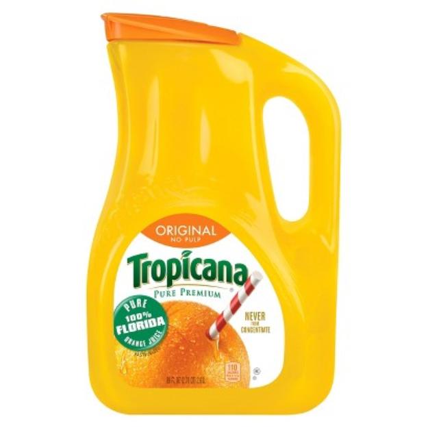 Tropicana Pulp Free 100% Orange Juice 89 oz