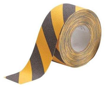 BRADY 78148 Antislip Tape, Black/Ylw Stripes, 3Inx60ft