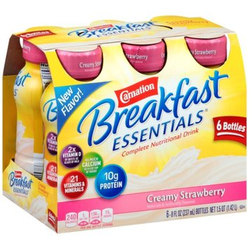 Carnation Breakfast Essentials Ready To Drink, Creamy Strawberry, Strawberry, 6 ea