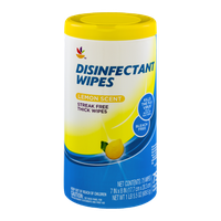Ahold Disinfectant Wipes Lemon Scent - 75 CT
