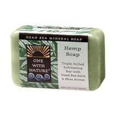 One With Nature Dead Sea Mineral Bar Soap Peppermint -- 7 oz