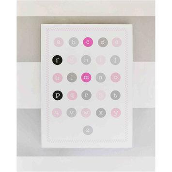 My Baby Sam Chevron Wall Art, Pink/Gray