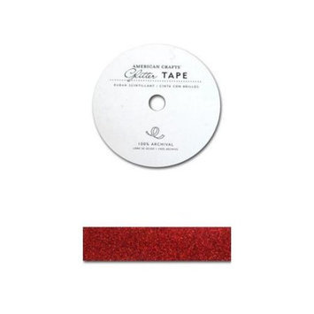 American Crafts ACGT96014 Glitter Paper Tape 3 YardsSpoolRouge .875 in.