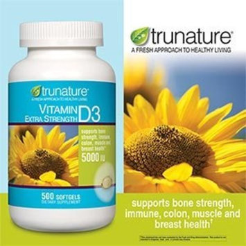 trunature Vitamin D3 5000 IU 500 Softgels