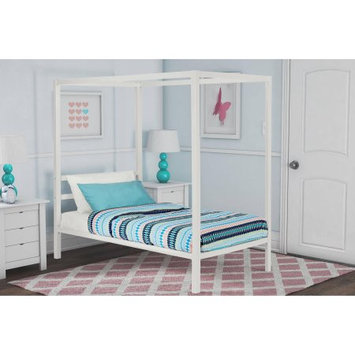 Dorel Home Products DHP Modern Metal Canopy Bed, White